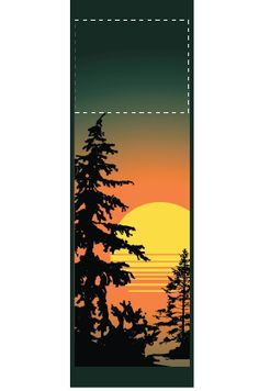 Lake Sunset - Stock banner 06307 Screen print outdoor fabric banners by Consort Display Group. #screenprint