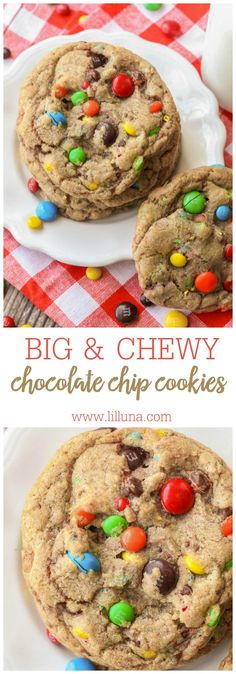 Delicious Giant Chewy M&M Cookies - our new favorite. Easy to make and so yummy! They're even better than the original because they're BIGGER and SOOO chewy!!