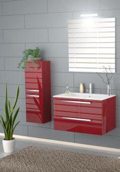 Modern Bathroom 2-Door Linen Cabinet