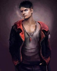 Dante again. I always wanted to draw Dante as DMC Fan but i always had problems with coloring white hair. and you know Dante has black ha. Davil May Cry, Dante Devil May Cry, Fantasy Art Men, Couple Drawings, Shadowrun, Boy Art, One Piece, Bad Boys, Character Inspiration
