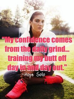 Training gives you confidence