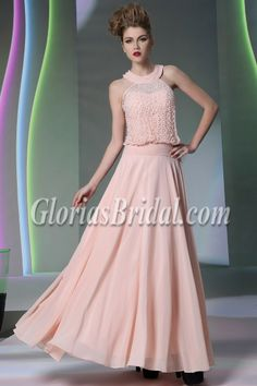 Peal pink evening dress!