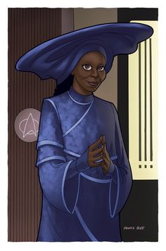 Guinan by ~DennisBudd  Okay, check the hat for a second...
