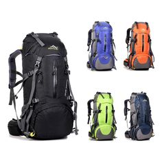 5fe495890fd 50L Large Waterproof Travel Bags Rucksack Nylon Outdoor Camping Hiking  Bicycle Sports Backpacks Bag Men Women Climbing Backpack-in Climbing Bags  from Sports ...