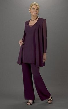 Tunic tops are a good cut. Mother of the Bride Pant Suit Ursula 3pc Tunic Pant Set 13037