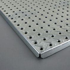 16 In. X 48 In. Heavyweight Diamond Plate Steel Pegboard $23 @ Menards