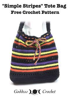 Simple Stripes Tote Bag - Free Crochet Pattern