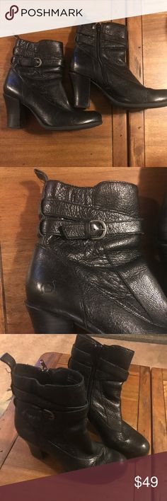Ladies Born heeled boots size 8 Fall/Winter Great boots heading into fall and winter by Born. Woman's size 8. Great like new condition. Zipper on the inside. Color is black. Thank you for looking and feel free to ask any questions. Born Shoes Heeled Boots