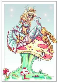 Steampunk Alice by NoFlutter.deviantart.com on @deviantART: