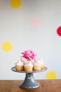 rosewater and vanilla cupcakes