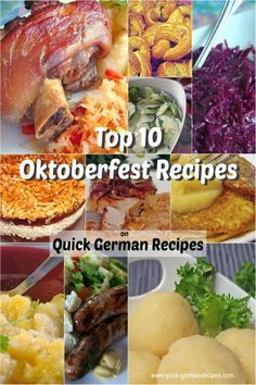 Top 10 Oktoberfest Recipes eCookbook