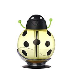 Beatles Cool Mist Humidifier, Sprtjoy 260ml Ultrasonic Whisper-quiet USB Portable Air Diffuser Purifier Atomizer with LED Light, 360 Degree Rotation, Car Sucker, Automatic Shut-off (Yellow)