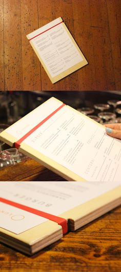 Clean designed wooden menu holders customised with your logo.