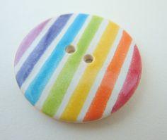 Rainbow ceramic button