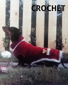 Crochet sweater pattern for the doxie lover