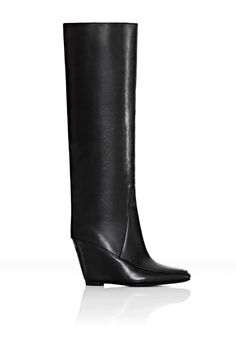 fall 2012, Alexander Wang, shoes, boots + booties, wedges, black