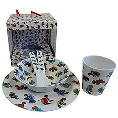 tractor melamine set(bowl,plate cup fork spoon)