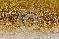 Gold glitter abstract background with blurry edges