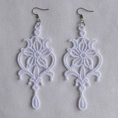 FSL Delicate Earrings Set, 10 Designs - 4x4 | FSL - Freestanding Lace | Machine Embroidery Designs | SWAKembroidery.com