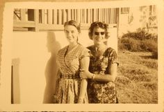 Sonja and her mum Algeria 1950s