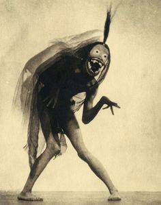 "William Mortensen (1897-1965) Art Study from ""West of Zanzibar"" Mortensen worked closely with Lon Chaney and created the masks used by him during production and seen here."