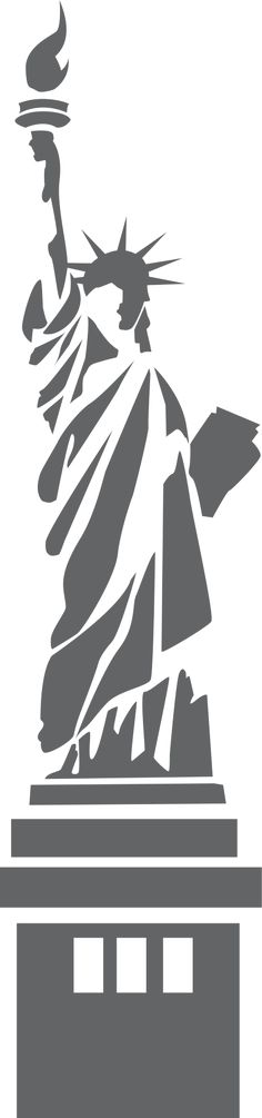 Statue of Liberty stylized - /American_History/famous_places/Statue_of_Liberty/Statue_of_Liberty_stylized. Stencil Patterns, Stencil Art, Stenciling, Kirigami, Silhouette Cameo, Inkscape Tutorials, Scroll Saw Patterns, Silhouettes, Pyrography