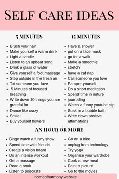 PIN THIS LIST! save this list as a reference for self care ideas. even when you are short on time! Self care has so many benefits- make sure you click the link to read how it can change your life and boost your personal growth. #lawofattraction #produc