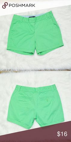 J. Crew Seafoam Green Shorts In excellent condition! Very comfortable, lightweight, and stretchy. Extremely well made! Buy 3 items and get 1 free plus 15% off your purchase total! J. Crew Shorts