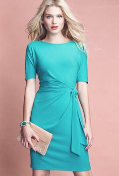 Day to evening dress by Anne Taylor. Love color for summer.