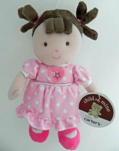 """Carter's Child of Mine Brunette Baby Doll Pink Dress - 9"""" Tall by Carter's Educational Products, http://www.amazon.com/dp/B00640CT9K/ref=cm_sw_r_pi_dp_iApxqb1335J1J"""