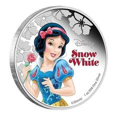 2015 Niue 1 oz Colorized Proof Silver $2 Disney Princess Snow White New Zealand