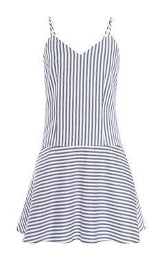 Striped Cotton Tank Dress by Harvey Faircloth Now Available on Moda Operandi
