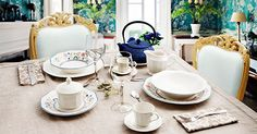 Tradicionales, elegantes, con estilo, con brillos únicos. Así es la vajilla de loza Churchill de estilo inglés.