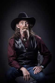 Wild Bill beard growth old time cowboy.