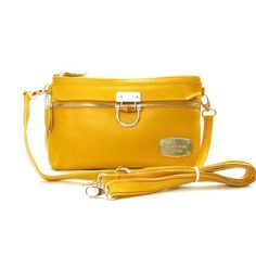 Michael Kors Gilmore Pebbled Small Yellow Crossbody Bags Outlet