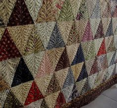 Great quilting!!! Love this quilting on the triangles!