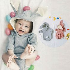 GAP Baby Toddler Boy Bunny Rabbit Sweater Hat Girls 18-24 Months Gray Easter