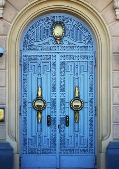 Bold, blue, and beautiful in Egypt. doors of the world. travel. doors. Egypt.