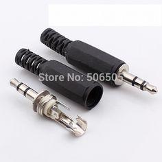 무료 배송 3 핀 3.5 미리메터 플러그 RCA 커넥터 RCA 플러그 3.5 잭 스테레오 헤드셋 듀얼 트랙 헤드폰 10 개/몫