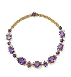 Bonhams Fine Art Auctioneers & Valuers: auctioneers of art, pictures, collectables and motor cars Amethyst Jewelry, Amethyst Necklace, Beaded Necklace, Bridal Jewelry, Jewelry Gifts, Jewelery, Bohemian Jewelry, Indian Jewelry, Antique Jewelry