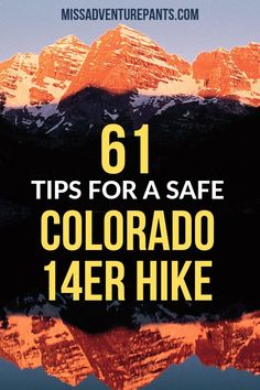 Are you hiking the Colorado this summer? Check out this article for 61 tips for a safe successful hike. A must-read for beginners and first-timers. Hiking Tips, Camping And Hiking, Hiking Gear, Hiking Backpack, Visit Colorado, Colorado Hiking, Colorado Mountains, Reading For Beginners, Hiking Training