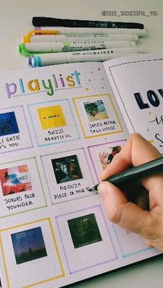 September Playlist verbreitet - ☆ My Bullet Journal Art - Bullet Journal School, Bullet Journal Notebook, Bullet Journal Inspo, Bullet Journal Inspiration Creative, Bullet Journal Birthday Tracker, Notebook Art, Album Journal, Scrapbook Journal, Journal Ideas