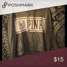 Victoria's Secret hoodie Grey Victoria's Secret pink hoodie PINK Victoria's Secret Tops Sweatshirts & Hoodies