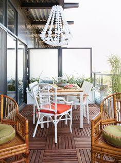 Tropical-Inspired Balcony