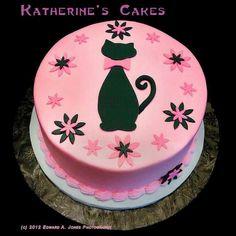 La Gata Coquetona Pink Birthday Cakes Cake For Cat Parties