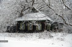 One of the abandoned huts in Chernobyl.