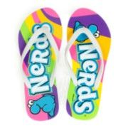 Nerds flip flops Sister Carrie, Rainbow Flip Flops, Nerds Candy, Giant Candy, Sour Patch Kids, Sugar Candy, Nerd Herd, Jelly Belly, Candy Store