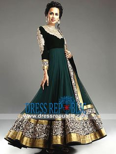 Indian Designer Clothes Nyc Green Bridal Anarkali Suits