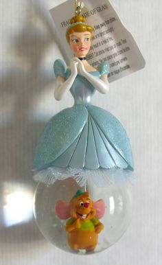 Disney Cinderella Snow Globe Christmas Ornament New...is the mouse happy about being under her skirt or something? It's cute but a little weird.
