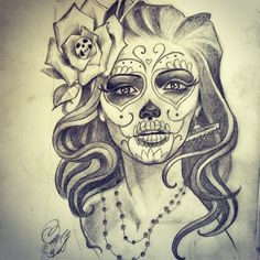Catrina Tattoo Tumblr De la nada creamos, -  #catrina #custome #tattoo                                                                                                                                                                                 Plus